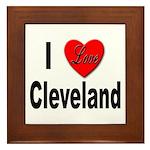 I Love Cleveland Framed Tile