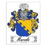 Marzolo Family Crest Small Poster