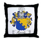 Marzolo Family Crest Throw Pillow
