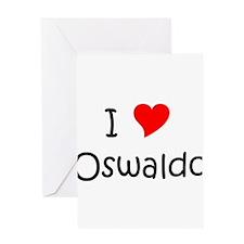 Cute I love oswaldo Greeting Card