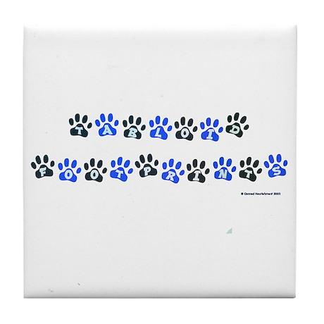 Tabloid Footprints Tile Coaster