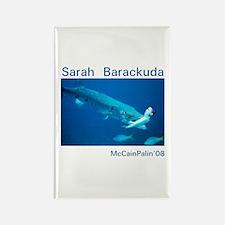 Sarah Barackuda Rectangle Magnet