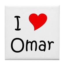 Cute Omar Tile Coaster