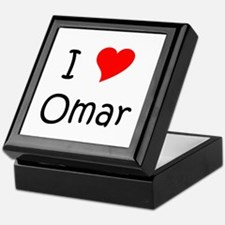 Cute I love omar Keepsake Box