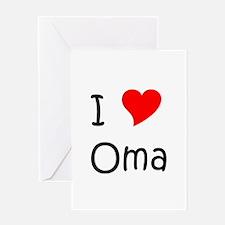 Unique Oma Greeting Card