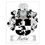 Mastini Family Crest Small Poster