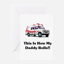 Ambulance This Is How My Dadd Greeting Card