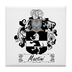 Mastini Family Crest Tile Coaster