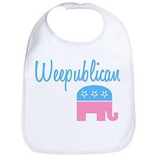 Weepublican (Blue) Bib