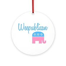 Weepublican (Blue) Ornament (Round)