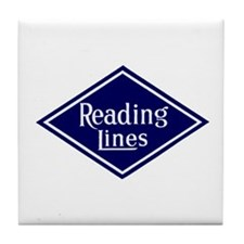 Reading Lines Tile Coaster