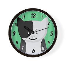 Black & White Kitten Wall Clock