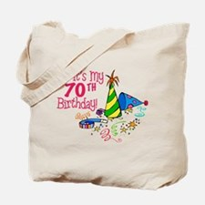 It's My 70th Birthday (Party Hats) Tote Bag