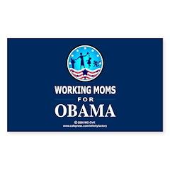 Working Moms Obama Rectangle Sticker 10 pk)