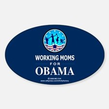 Working Moms Obama Oval Decal