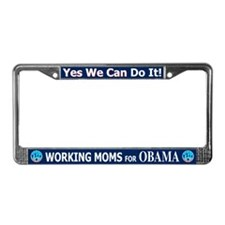 Working Moms Obama License Plate Frame