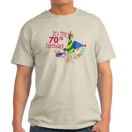It's My 70th Birthday (Party Hats) Light T-Shirt