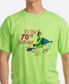 It's My 70th Birthday (Party Hats) T-Shirt