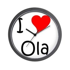 Cute I love ola Wall Clock
