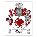 Mauri Family Crest Small Poster