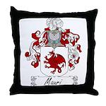 Mauri Family Crest Throw Pillow