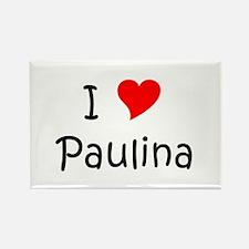 Cute Paulina Rectangle Magnet