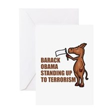 Anti-Obama War On Terror Greeting Card