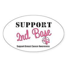 BreastCancerSecBase Oval Sticker (10 pk)