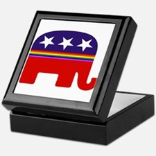gay republican Keepsake Box