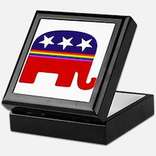 gay republican Keepsake Box