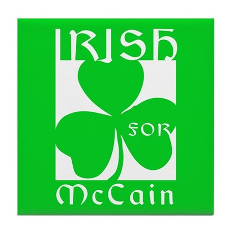 Irish for McCain Tile Coaster