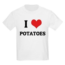 I Love Potatoes Kids T-Shirt