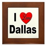I Love Dallas Framed Tile