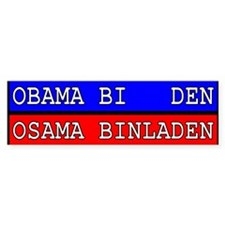 Obama-Biden : Osama Bin Laden Bumper Bumper Sticker