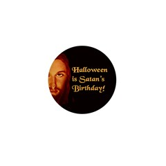 Halloween Satan's Birthday Mini Button (10 pack)