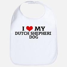 I Love My Dutch Shepherd Dog Bib