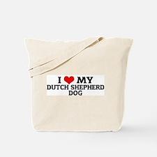 I Love My Dutch Shepherd Dog Tote Bag