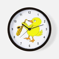 Sax Chick Wall Clock
