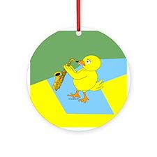 Sax Chick Ornament (Round)