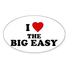 I Love [Heart] the Big Easy Oval Decal