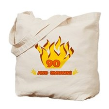 90 Years Old And Smokin' Tote Bag