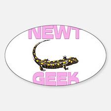 Newt Geek Oval Decal