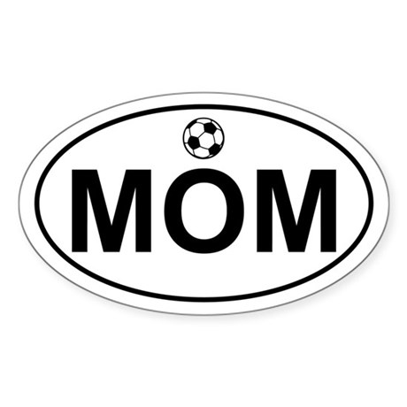 Soccer MOM Oval Sticker