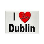 I Love Dublin Rectangle Magnet (10 pack)
