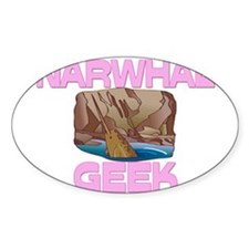 Narwhal Geek Oval Decal