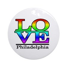 love philadelphia Ornament (Round)