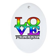 love philadelphia Oval Ornament