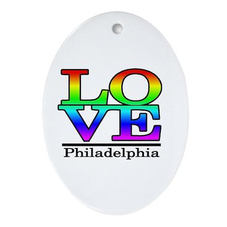 love philadelphia Oval Ornament