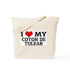 I Love My Coton de Tulear Tote Bag