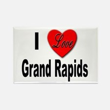 I Love Grand Rapids Michigan Rectangle Magnet